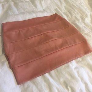 Blush Pink Mini Skirt